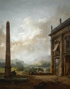 The Obelisk | Hubert Robert | Oil Painting