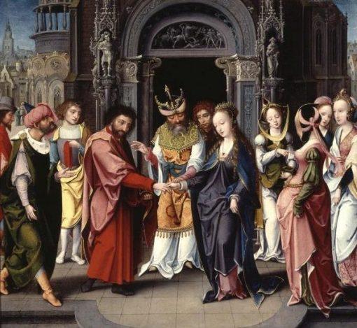 Marriage of the Virgin | Jan van Dornicke | Oil Painting