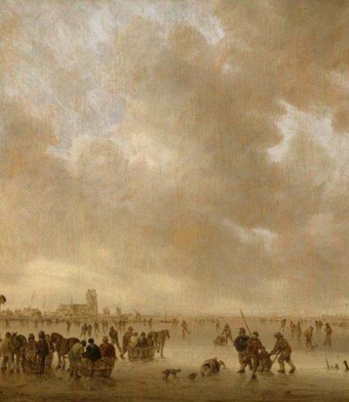 On the Ice near Dordrecht | Jan van Goyen | Oil Painting