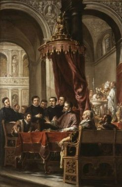 The Conversion and Baptism of St. Augustine by St. Ambrose | Juan de ValdEs Leal | Oil Painting
