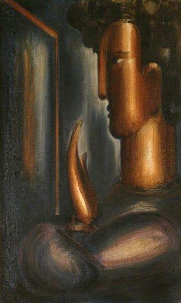 Before the Mirror | Oskar Schlemmer | Oil Painting