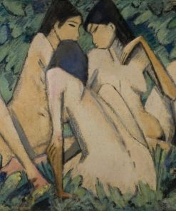 Three Girls in a Wood | Otto Mueller | Oil Painting