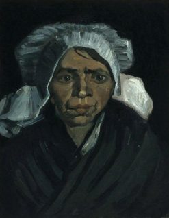Head of a Peasant Woman with a White Hood | Vincent van Gogh | Oil Painting