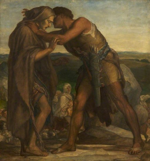 The Meeting of Esau and Jacob | George Frederic Watts | Oil Painting