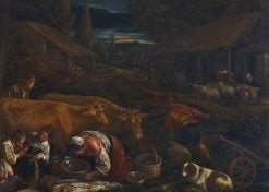 Farmyard Scene with the Parable of the Sower | Leandro Bassano | Oil Painting