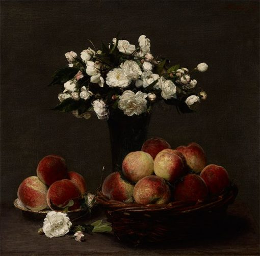 Peonies and Peaches | Henri Fantin Latour | Oil Painting