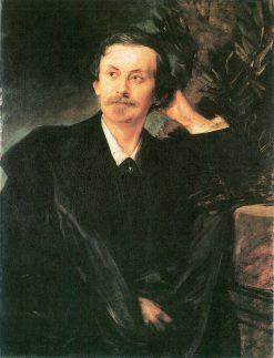 Portrait of Adolf von Schack | Franz von Lenbach | Oil Painting