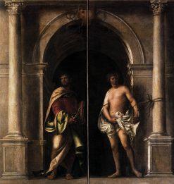 Saints Bartholomew and Sebastian | Sebastiano del Piombo | Oil Painting