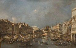 The Rialto Bridge   Francesco Guardi   Oil Painting