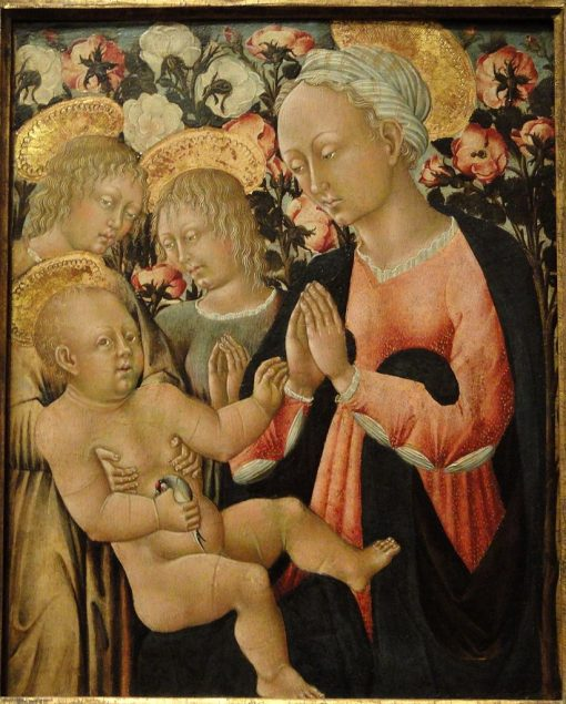 Madonna and Child with Angels | Giovanni di Paolo | Oil Painting