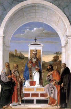 Saint Peter Enthroned with Four Saints | Marco Basaiti | Oil Painting
