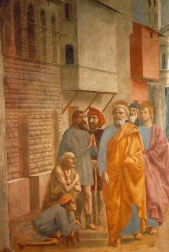 Saint Peter Healing the Sick with His Shadow (Brancacci Chapel) | Masaccio | Oil Painting