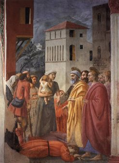The Distribution of Arms and Death of Ananias (Brancacci Chapel) | Masaccio | Oil Painting