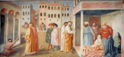 Healing of the Cripple and The Raising of Tabitha | Masolino da Panicale | Oil Painting