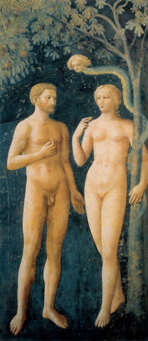 Adam and Eve - Original Sin (Brancacci Chapel) | Masolino da Panicale | Oil Painting
