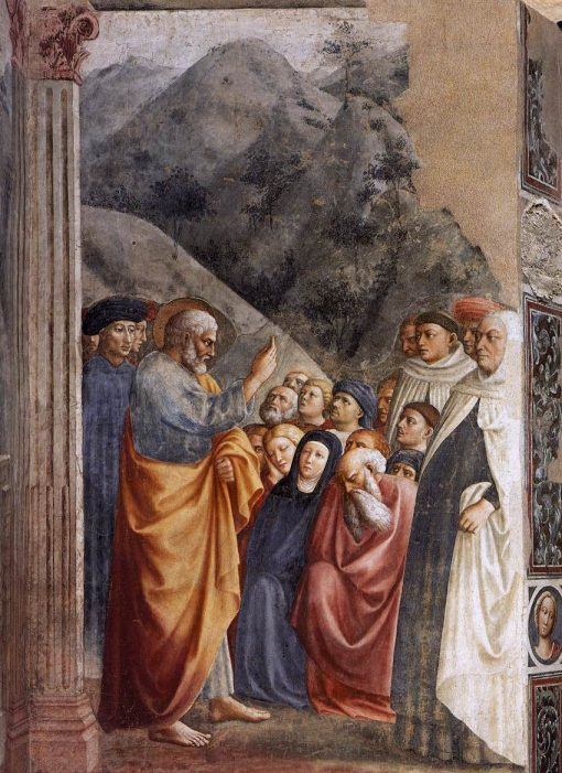 Saint Peter Preaching (Brancacci Chapel)   Masolino da Panicale   Oil Painting