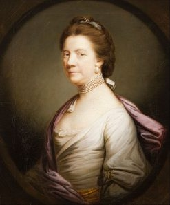 Portrait of a Lady in White   Sir Joshua Reynolds   Oil Painting