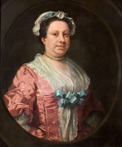 Unknown Woman in Rose Damask | William Hogarth | Oil Painting