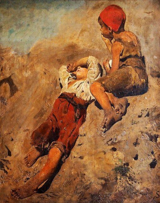 Italian Children | Franz von Lenbach | Oil Painting