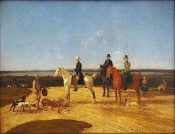 Hunter on Horseback in Upper Bavarian Landscape | Wilhelm von Kobell | Oil Painting