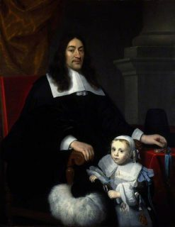 Sir William Davidson of Curriehill with his Son Charles | Abraham van den Tempel | Oil Painting