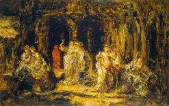 In the Grotto | Adolphe Joseph Thomas Monticelli | Oil Painting