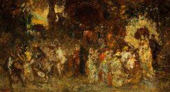 A Garden Fête | Adolphe Joseph Thomas Monticelli | Oil Painting