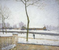 Effet de Neige(also known as Snow Effect) | Alfred Sisley | Oil Painting