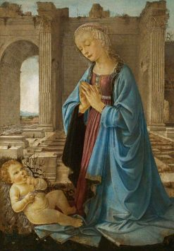 The Madonna Adoring the Christ Child (The Ruskin Madonna) | Andrea del Verrocchio | Oil Painting