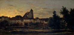 View of Montigny-sur-Loing | Charles Francois Daubigny | Oil Painting