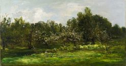 Orchard in Blossom | Charles Francois Daubigny | Oil Painting