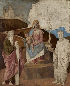 The Virgin and Child with Saint Andrew and Saint Peter | Cima da Conegliano | Oil Painting