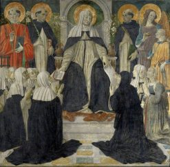 Saint Catherine of Siena as Spiritual Mother of the Second and Third Orders of Saint Dominic   Cosimo Rosselli   Oil Painting