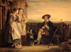 "A Scene from Ramsay's ""The Gentle Shepherd"" | David Wilkie | Oil Painting"