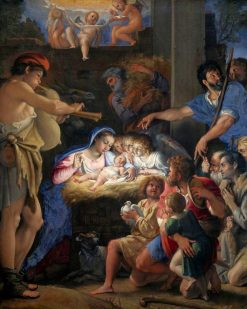 The Adoration of the Shepherds | Domenichino | Oil Painting