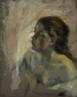 Study of a Girl's Head | Edgar Degas | Oil Painting