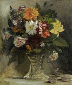 A Vase of Flowers | Eugene Delacroix | Oil Painting