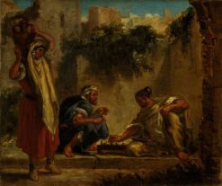 Arabs Playing Chess | Eugene Delacroix | Oil Painting