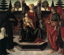 Virgin and Child Enthroned | Francesco Botticini | Oil Painting
