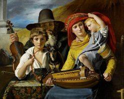 Les musiciens ambulants (A Musician Family) | Francois Joseph Navez | Oil Painting