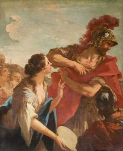 Jephthah Returning from Battle is Greeted by His Daughter | Giovanni Antonio Pellegrini | Oil Painting