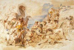Rachel Hiding the Idols | Giovanni Castiglione | Oil Painting