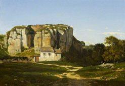 Cliffs Near Crémieu | Henri Joseph Harpignies | Oil Painting