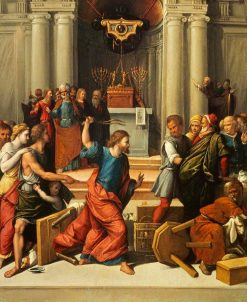 Christ Driving the Money Changers from the Temple | Il Garofalo | Oil Painting