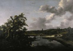The Banks of a River | Jacob van Ruisdael | Oil Painting