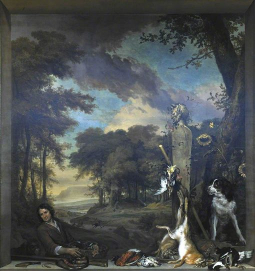 Landscape with a Huntsman and Dead Game(also known as Allegory of the Sense of Smell) | Jan Weenix | Oil Painting