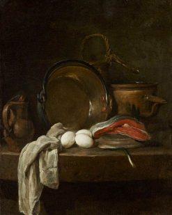Still Life: The Kitchen Table   Jean Baptiste Simeon Chardin   Oil Painting