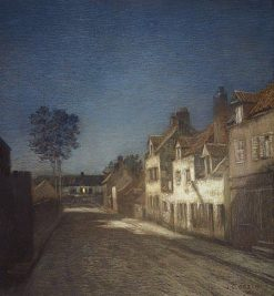 Une rue le soir (A Village Street at Evening) | Jean Charles Cazin | Oil Painting