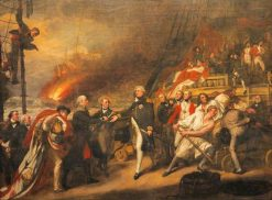 The Surrender of the Dutch Admiral de Winter to Admiral Duncan at the Battle of Camperdown(also known as The Victory of Lord Duncan) | John Singleton Copley | Oil Painting