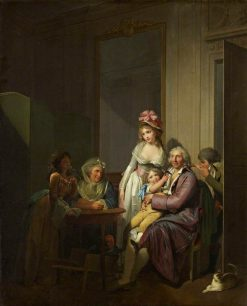 Family in an Interior | Louis LEopold Boilly | Oil Painting